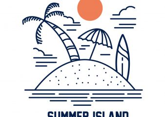 summer island tshirt design