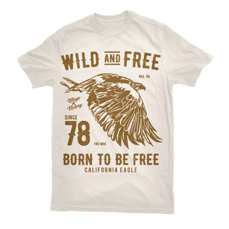 Wild And Free Graphic t-shirt design t shirt design png