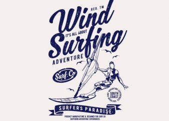 Wind Surfing Vector t-shirt design