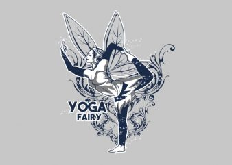 YOGA FAIRY t shirt design template