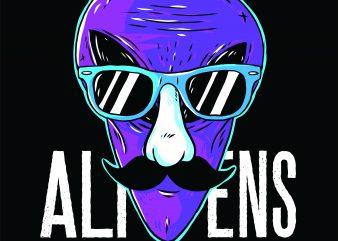 Alien Exist t shirt vector