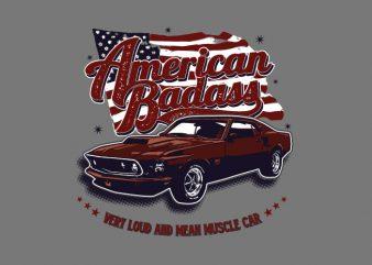 American Badass t shirt vector