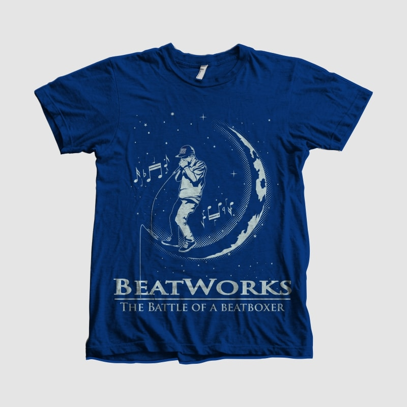 BEAT WORK t shirt designs for printify