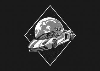 bilionaire astronaut vector t shirt design artwork