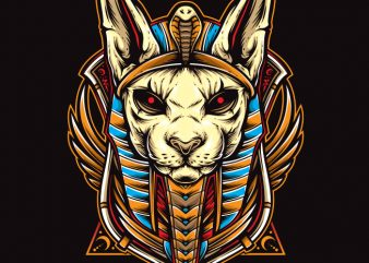 cat anubis t shirt vector file
