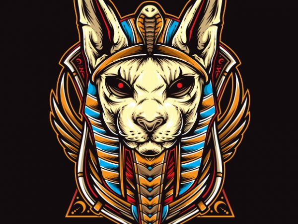 cat anubis t shirt design for purchase