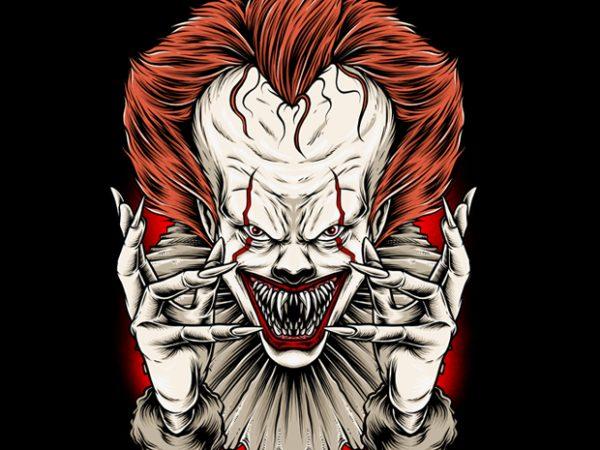 Clowns t-shirt design for sale