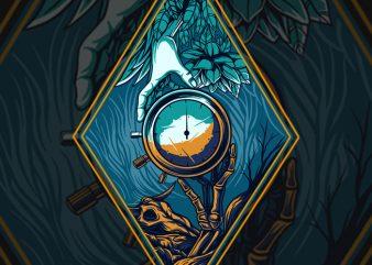 Hand times T-shirt Design
