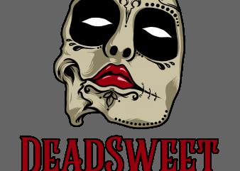 deadsweet t-shirt design png