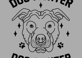 dog fighter tshirt design
