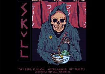 eat skull . illustrator skull vector clipart
