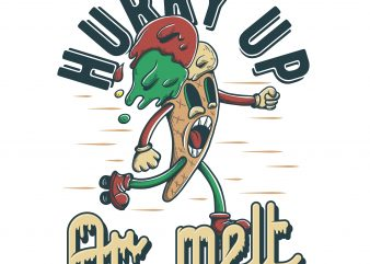 Hurry up or melt. Vector T-Shirt Design