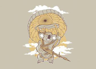 koala rambo vector t-shirt design template