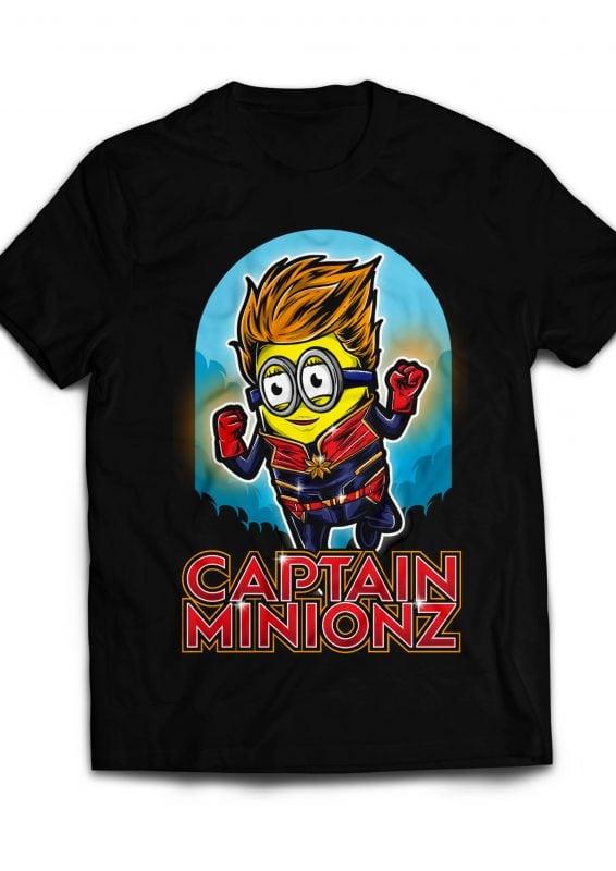Captain Minionz tshirt design for merch by amazon