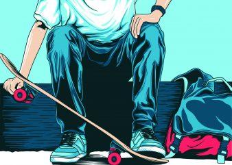 skaters boy , skateboard t shirt template vector