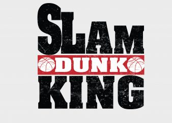 Slum Dunk King t shirt template vector