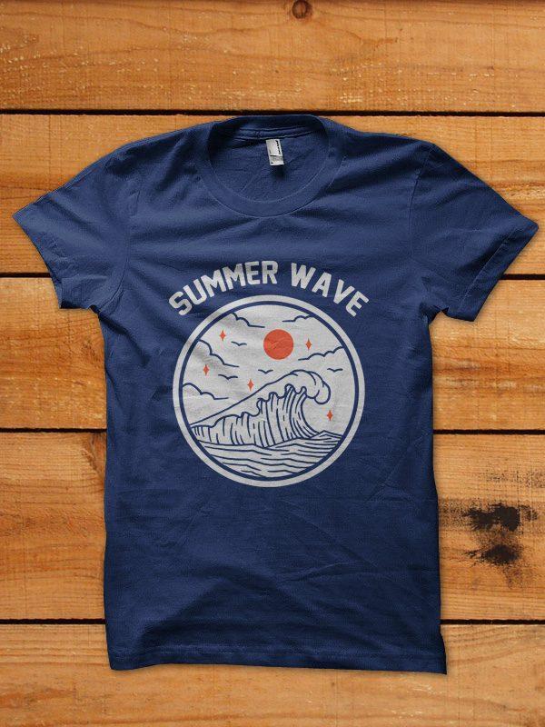 summer wave thsirt design t shirt designs for teespring