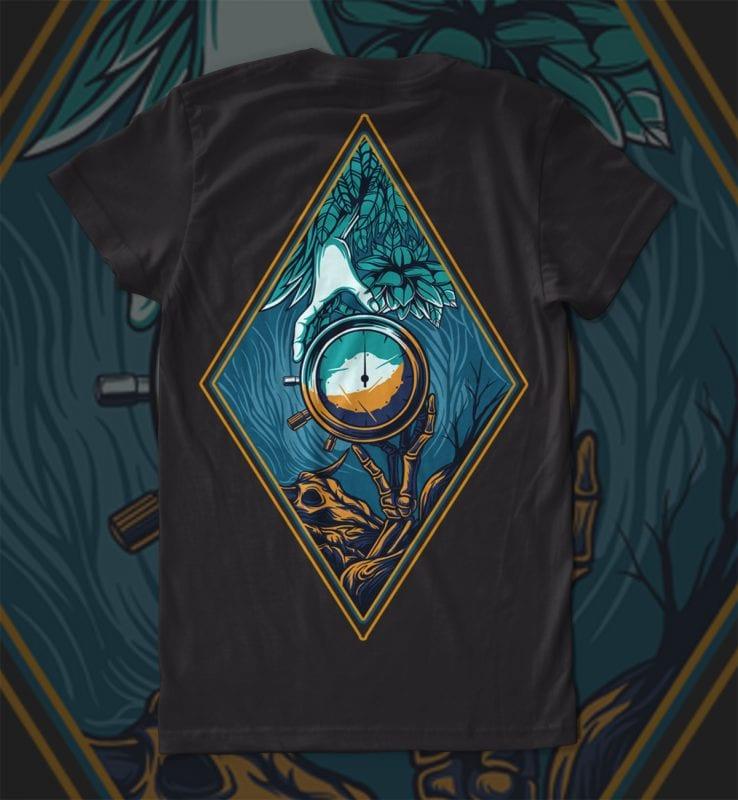 Hand times T-shirt Design tshirt design for sale