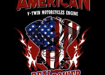 v twin engine t shirt vector art