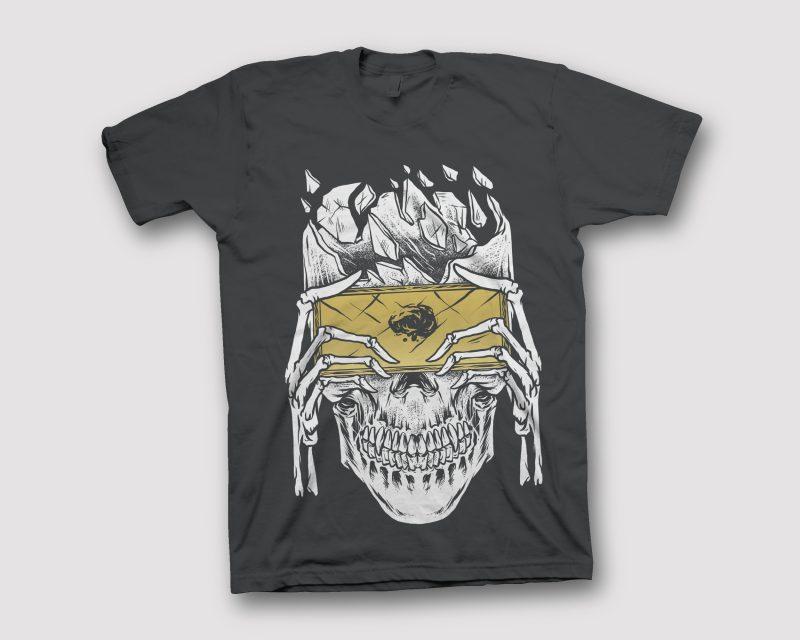 SKULL GAMER vector shirt designs