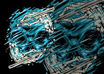 Hydro Skull t shirt design to buy