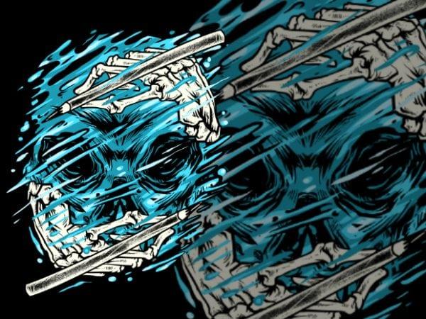Hydro Skull t shirt design to buy