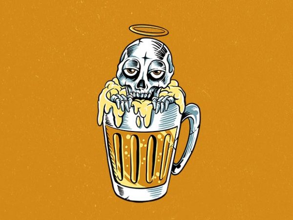 happy dead Graphic t-shirt design