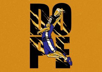 beer dunk Graphic t-shirt design