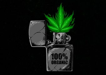 weed torch Graphic t-shirt design