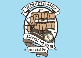 Accross The Ocean t shirt vector