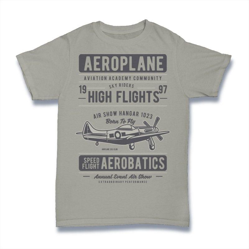 Aeroplane vector t shirt design