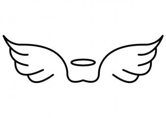 Angel wings minimalistic heaven tattoo vector t shirt design