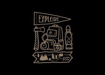 Explore graphic t-shirt design