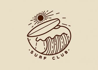 Surf Club t shirt design for purchase