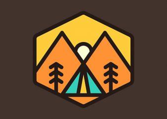 Camp Sunset t shirt vector file