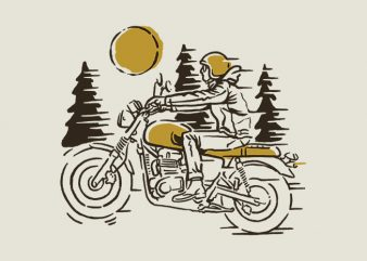 Classic Biker t shirt vector file