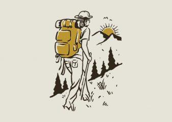 Hike Addiction graphic t-shirt design