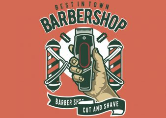 Barbershop vector t-shirt design