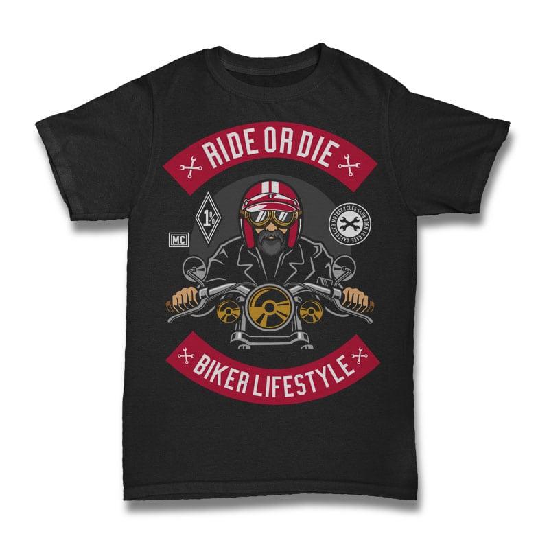 Biker vector t shirt design