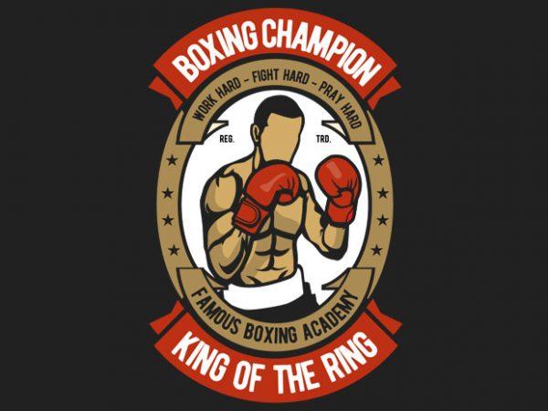Boxing t shirt template