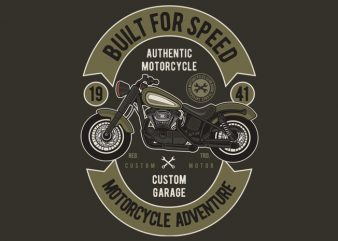 Built For Speed graphic t-shirt design