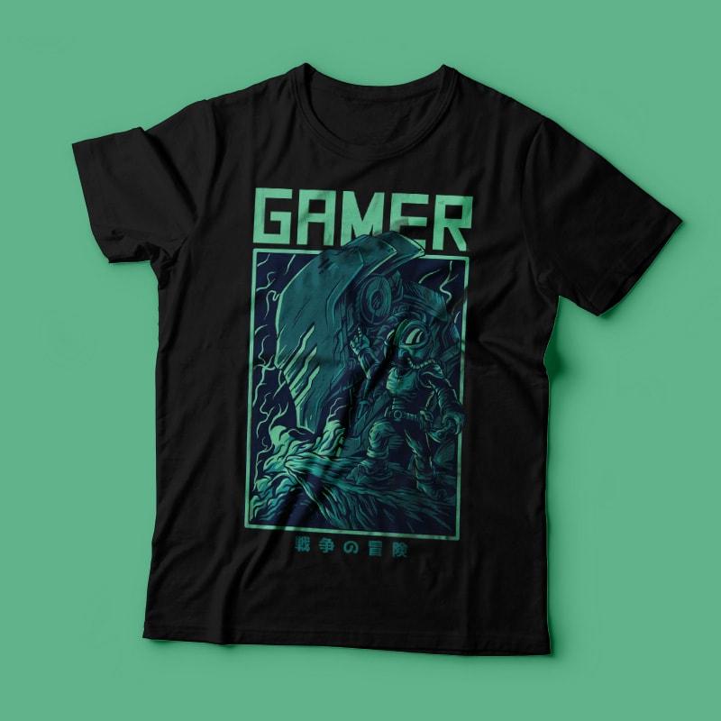 Gamer Remastered T-Shirt Design t shirt design graphic