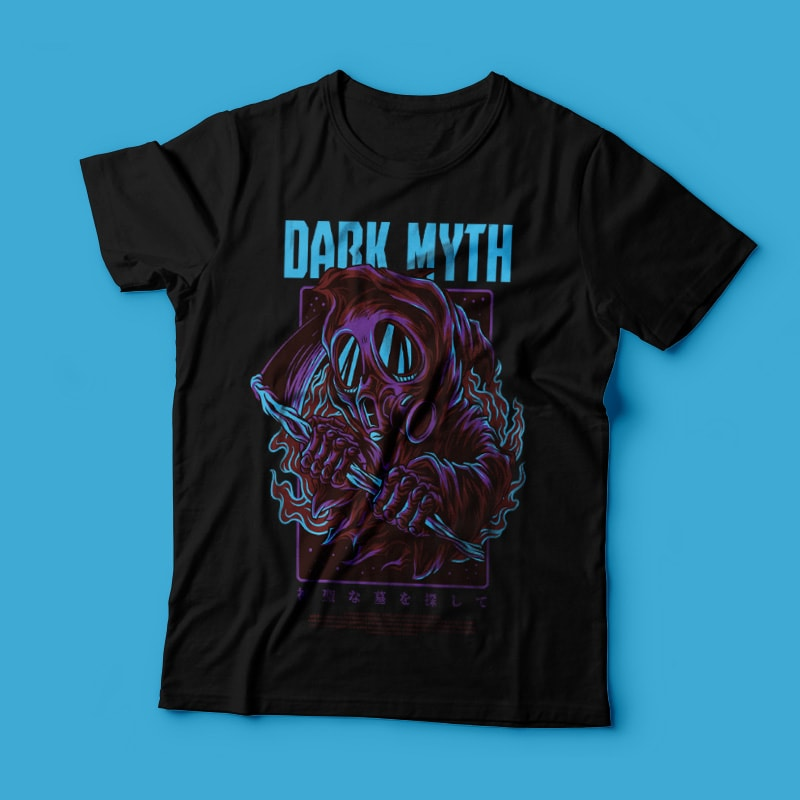 Dark Myth T-Shirt Design commercial use t shirt designs