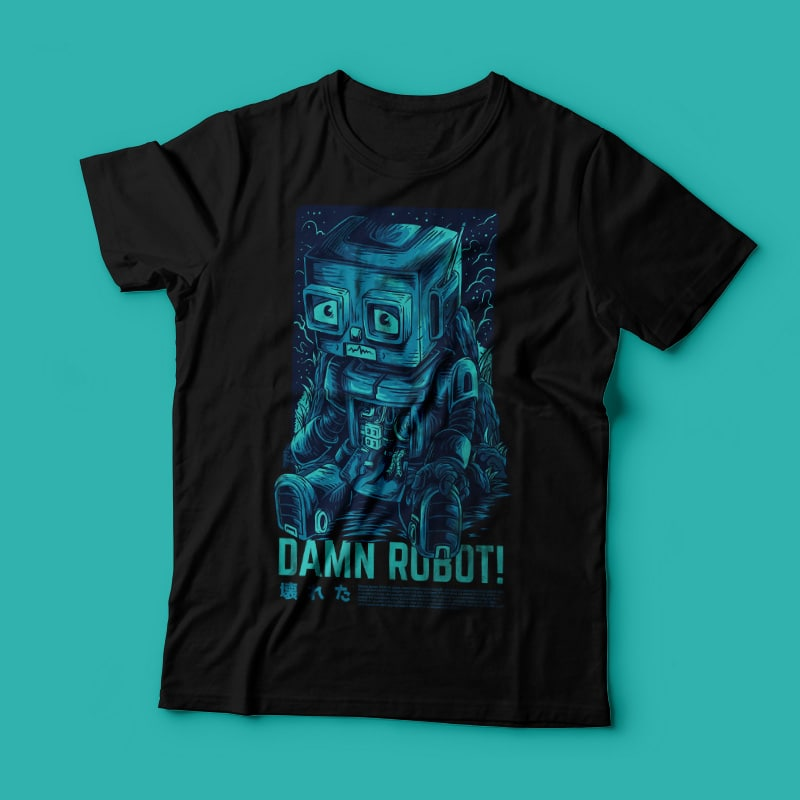 Damn Robot! Remastered T-Shirt Design t shirt design graphic