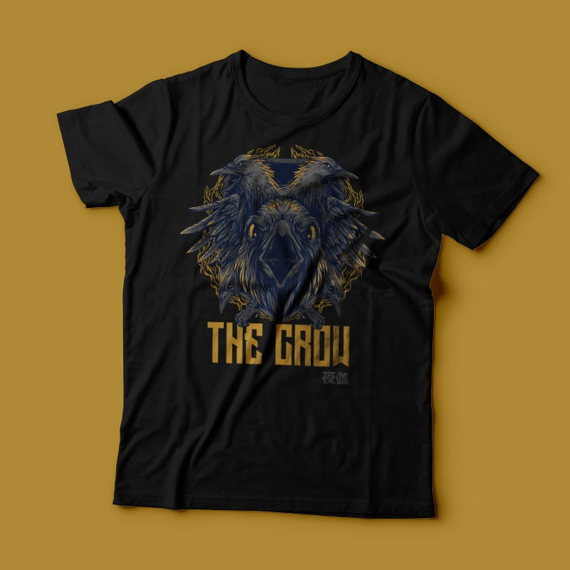 The Crow Remastered T-Shirt Design t shirt design graphic