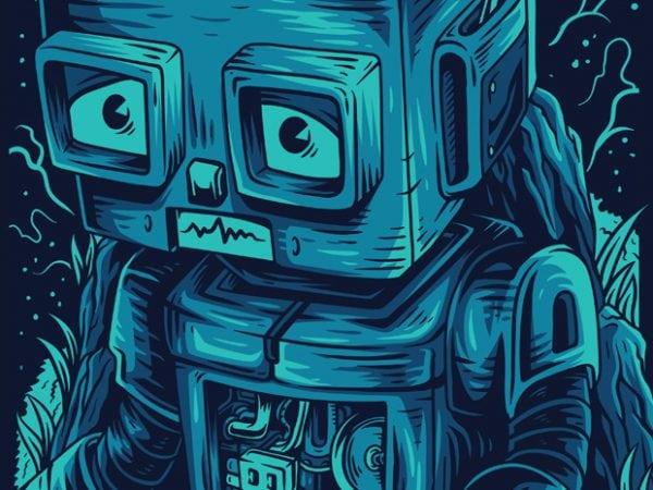 Damn Robot! Remastered T-Shirt Design