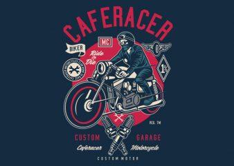 Caferacer t shirt design for sale