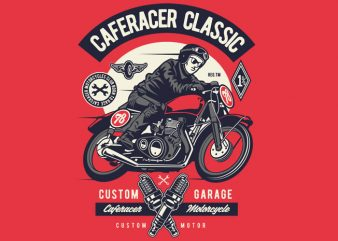 Caferacer Rider Classic t shirt vector file