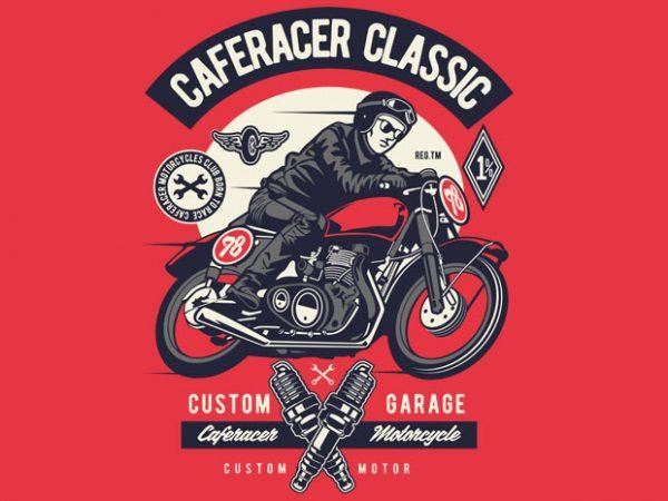 Caferacer Rider Classic vector t shirt design artwork