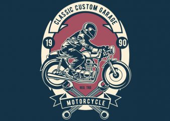 Classic Custom Garage vector t-shirt design
